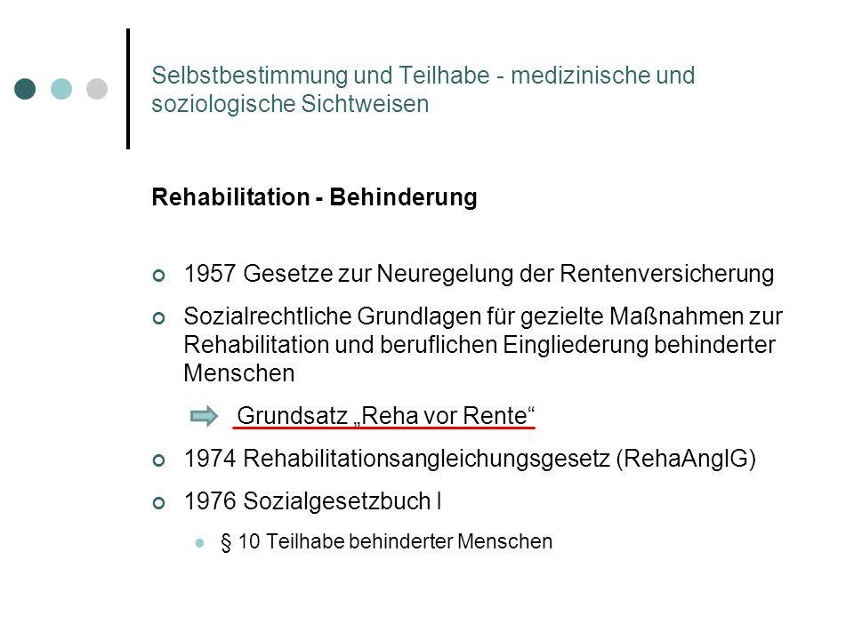 Rehabilitation - Behinderung