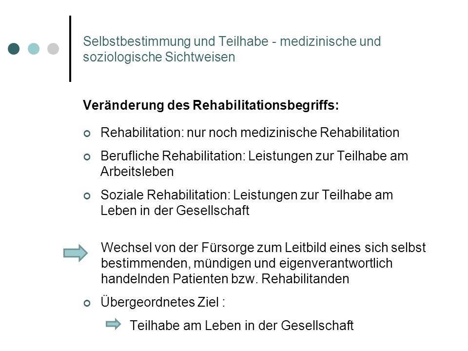 Veränderung des Rehabilitationsbegriffs: