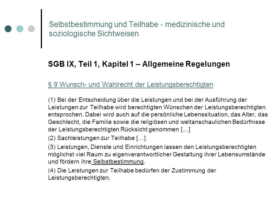 SGB IX, Teil 1, Kapitel 1 – Allgemeine Regelungen