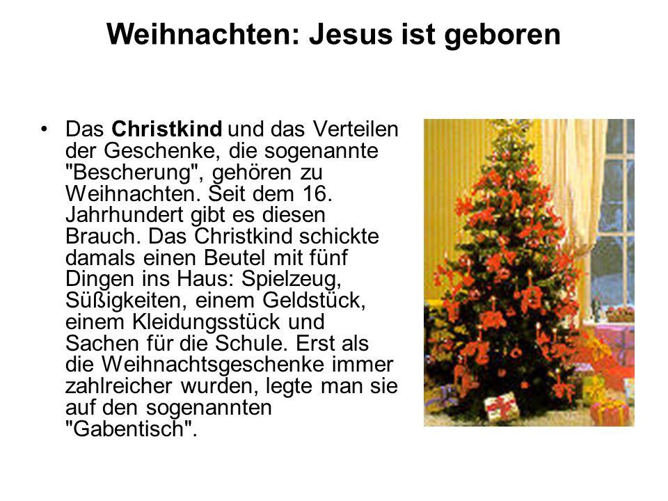 Weihnachten: Jesus ist geboren