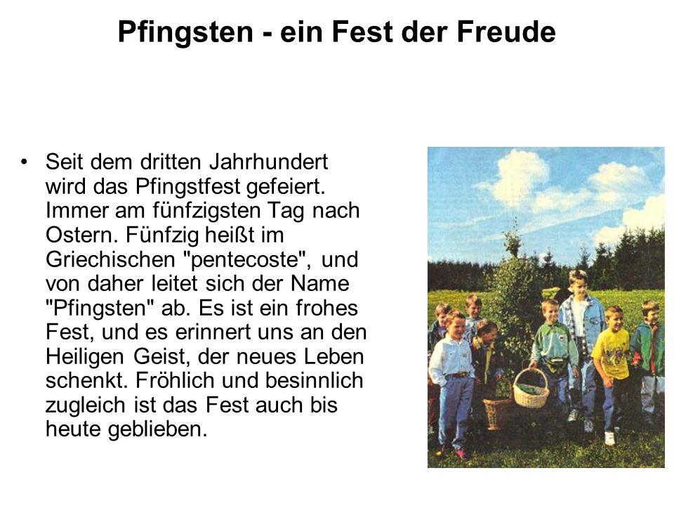 Pfingsten - ein Fest der Freude