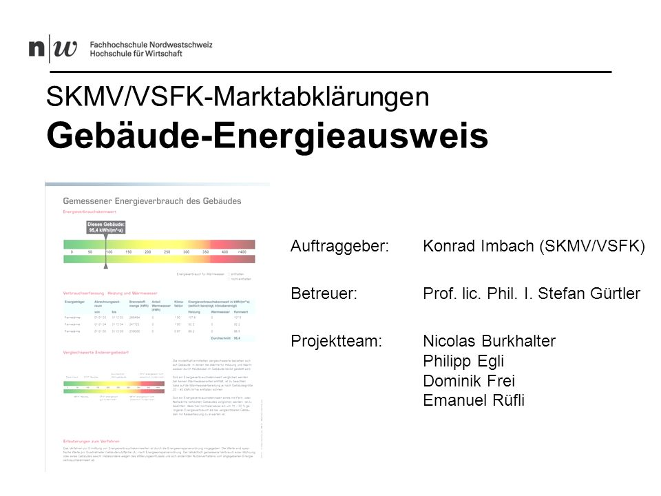 SKMV/VSFK-Marktabklärungen Gebäude-Energieausweis