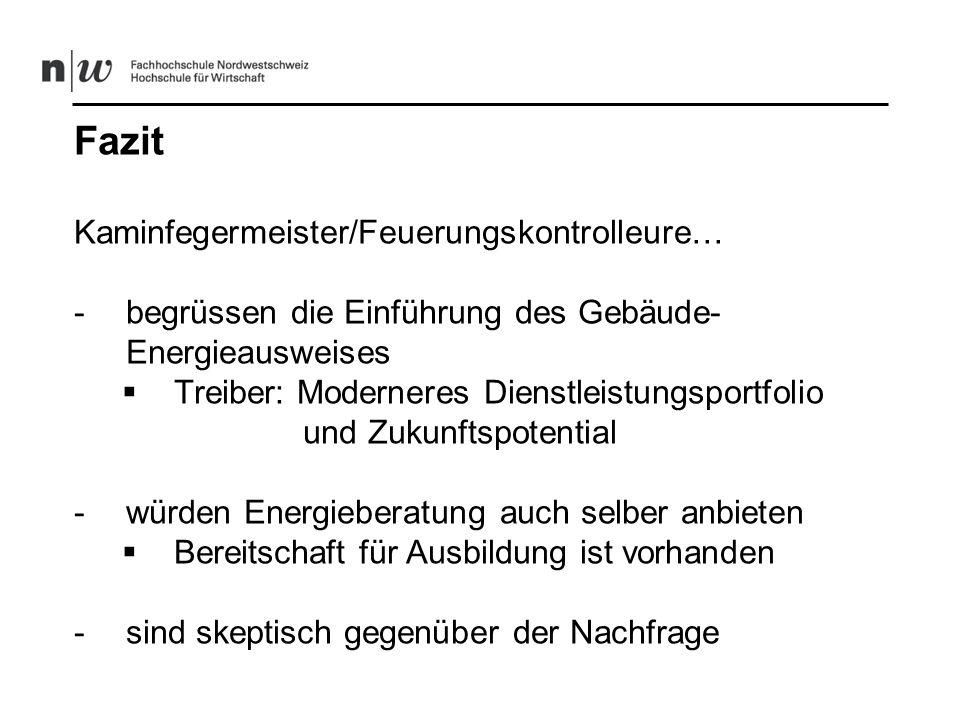 Fazit Kaminfegermeister/Feuerungskontrolleure…