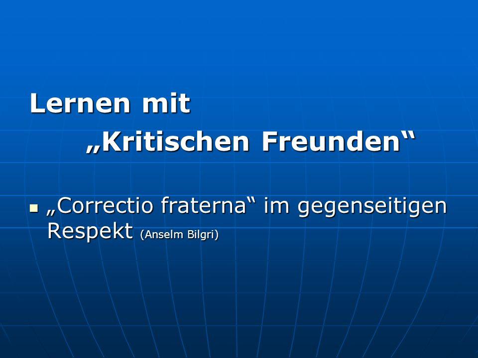 """""""Kritischen Freunden"""