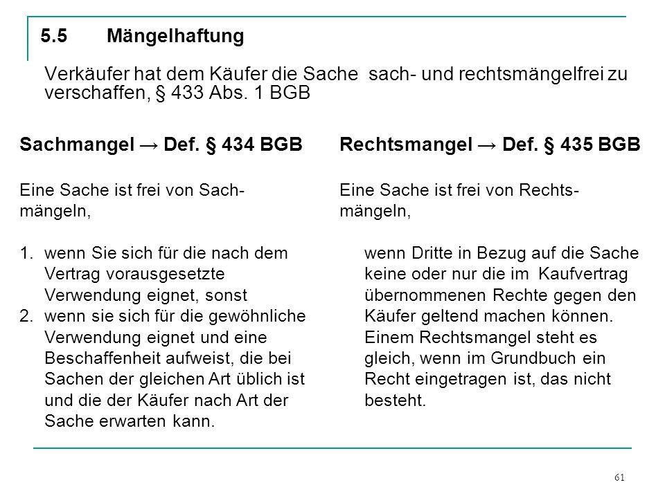Rechtsmangel → Def. § 435 BGB