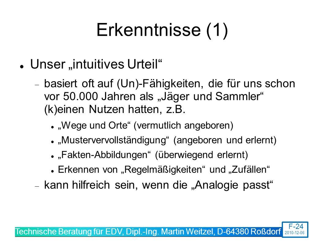 """Erkenntnisse (1) Unser """"intuitives Urteil"""