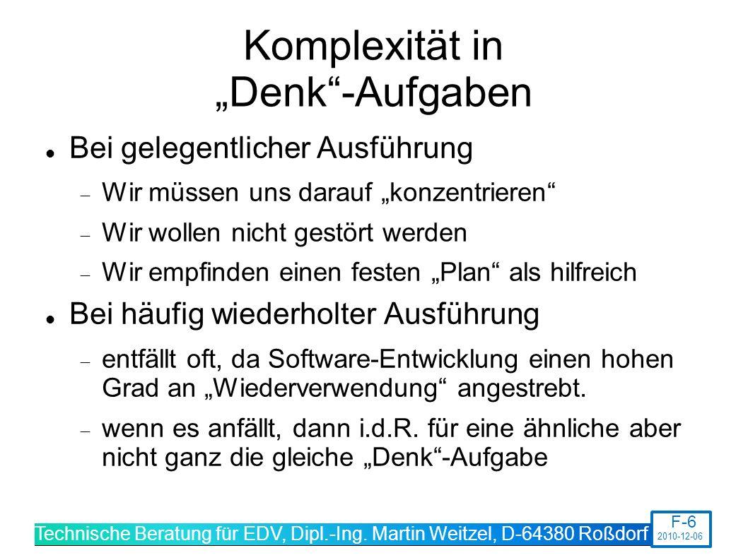 """Komplexität in """"Denk -Aufgaben"""