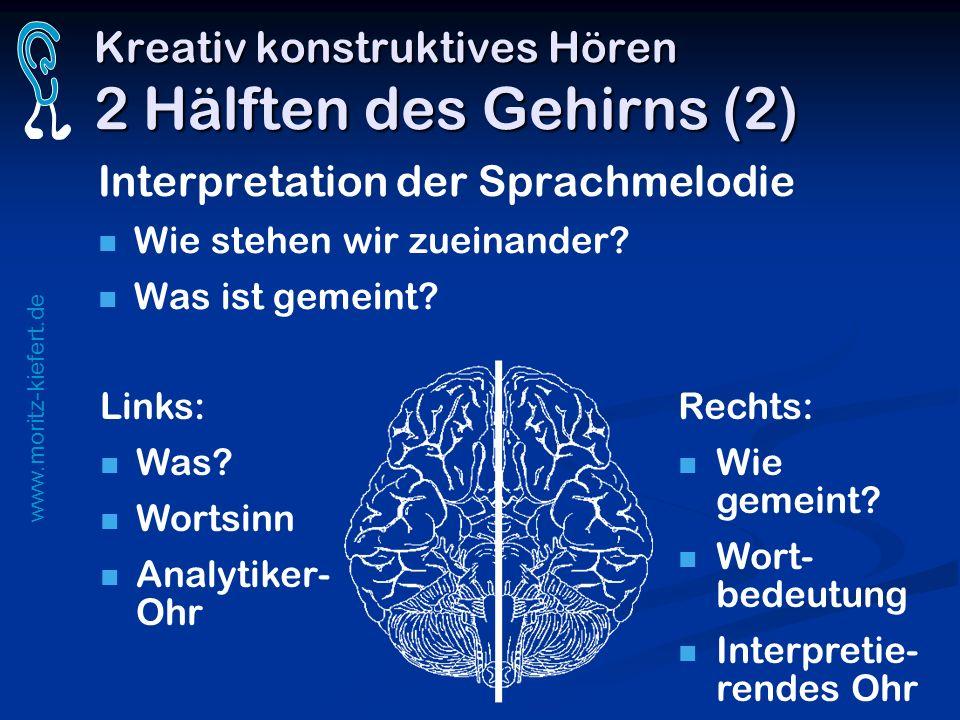 Kreativ konstruktives Hören 2 Hälften des Gehirns (2)