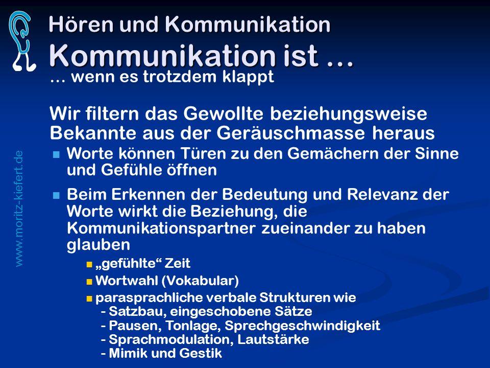 Hören und Kommunikation Kommunikation ist …