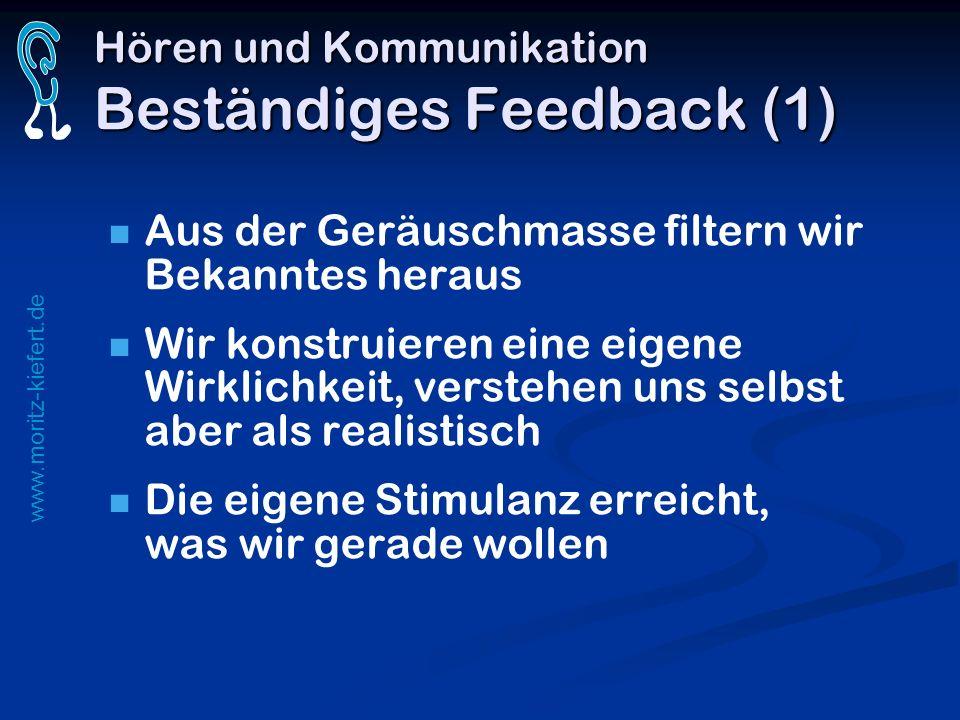 Hören und Kommunikation Beständiges Feedback (1)