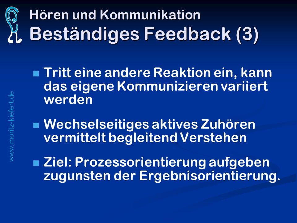 Hören und Kommunikation Beständiges Feedback (3)