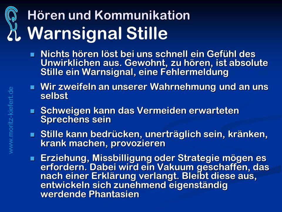Hören und Kommunikation Warnsignal Stille