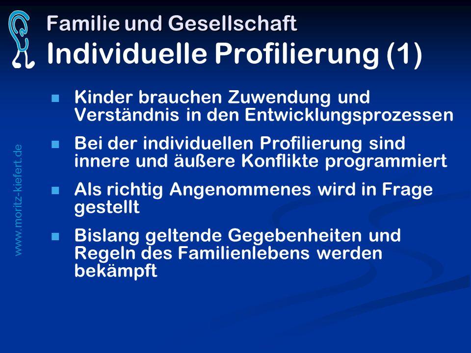 Familie und Gesellschaft Individuelle Profilierung (1)