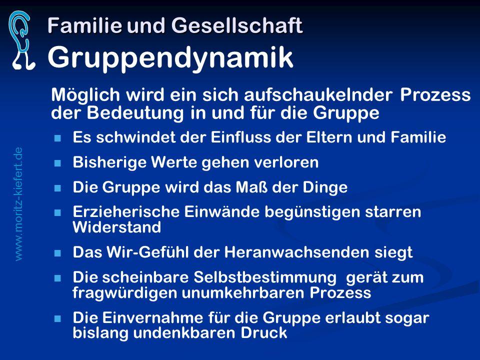 Familie und Gesellschaft Gruppendynamik