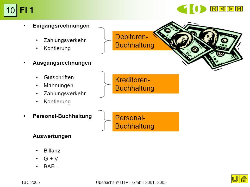 10 FI 1 10 Debitoren-Buchhaltung Kreditoren-Buchhaltung