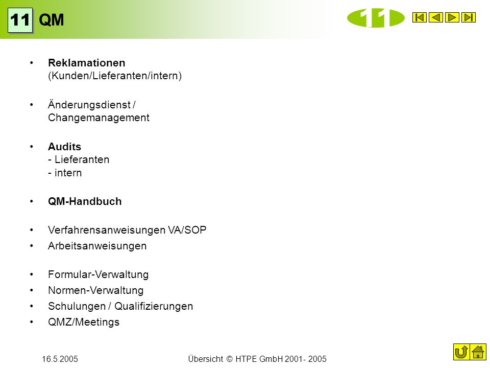 11 QM 11 Reklamationen (Kunden/Lieferanten/intern)