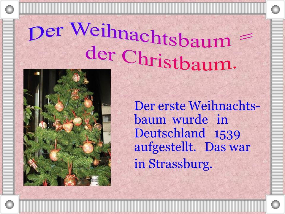 Der Weihnachtsbaum = der Christbaum.