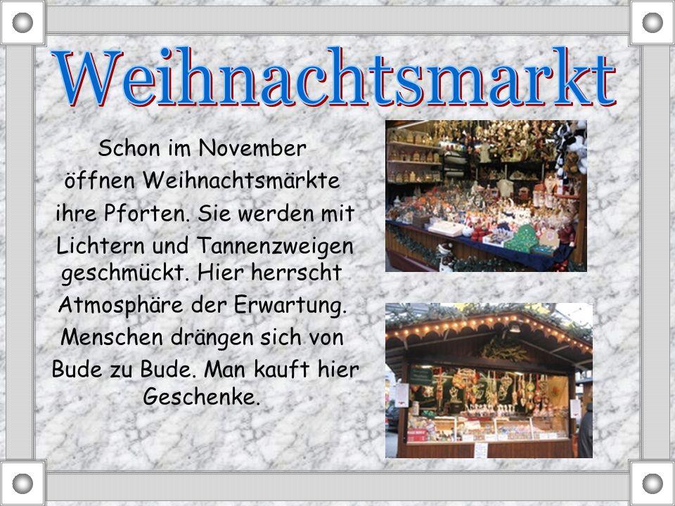 Weihnachtsmarkt Schon im November öffnen Weihnachtsmärkte