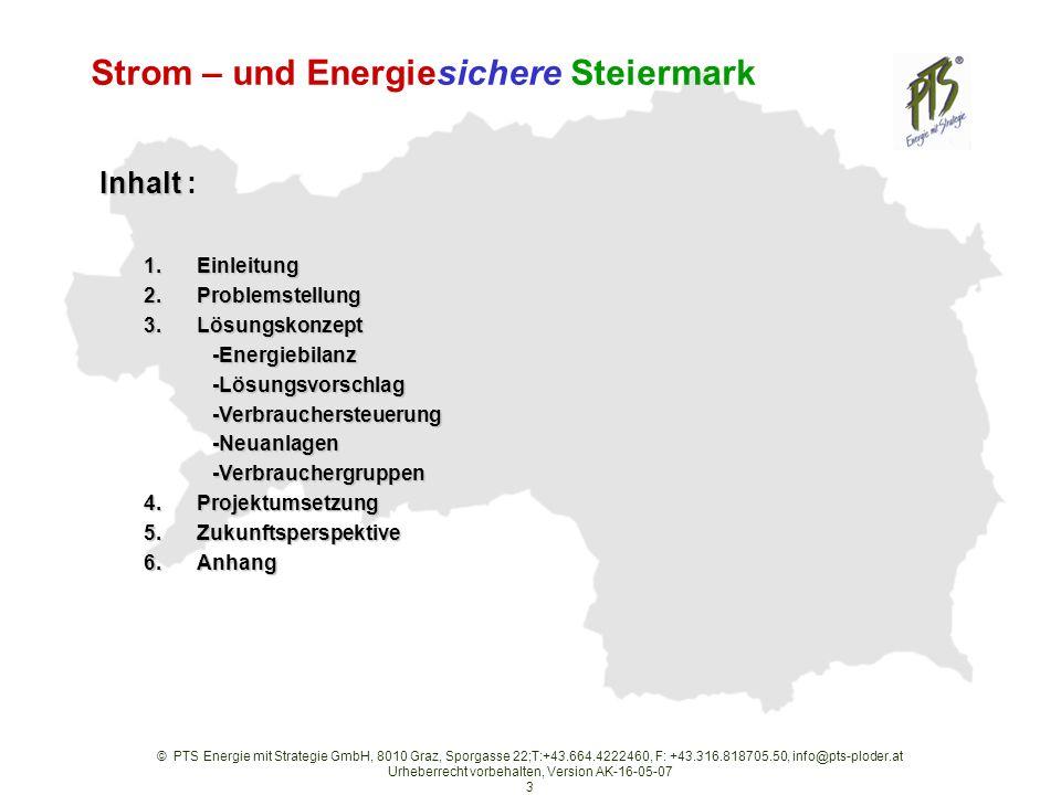 Strom – und Energiesichere Steiermark