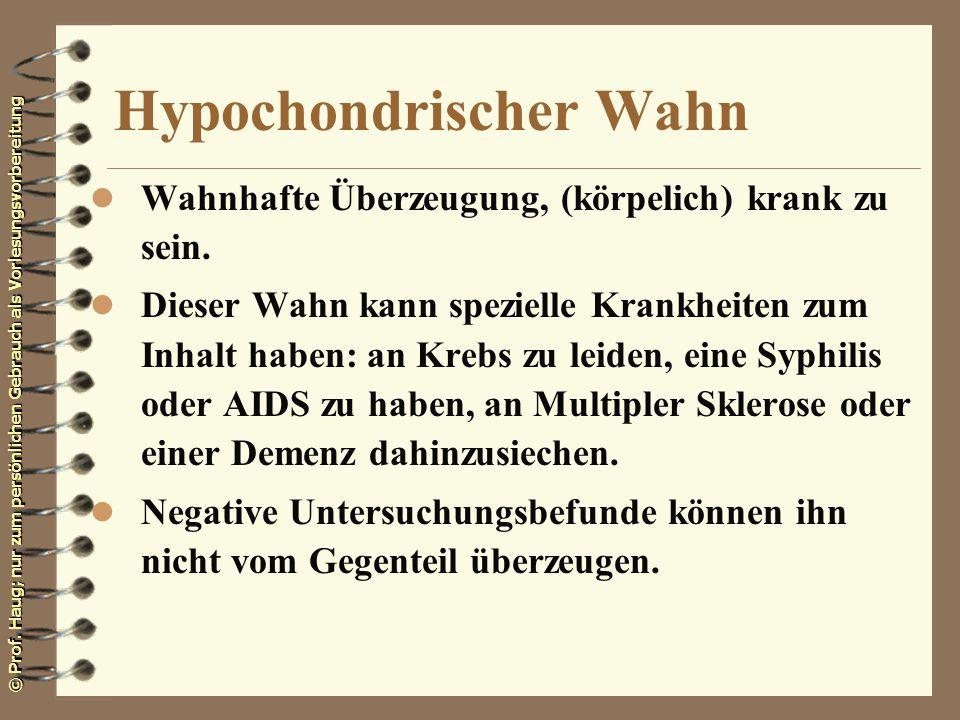 Hypochondrischer Wahn