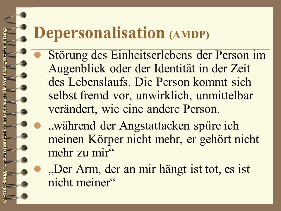 Depersonalisation (AMDP)