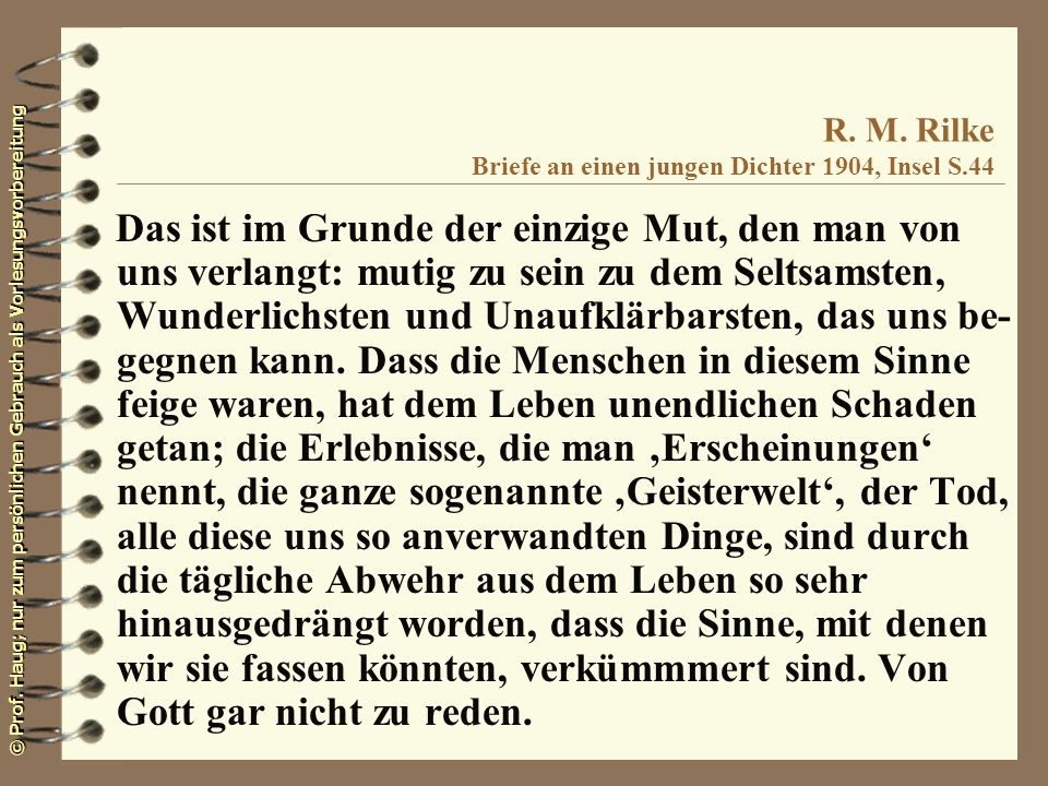R. M. Rilke Briefe an einen jungen Dichter 1904, Insel S.44