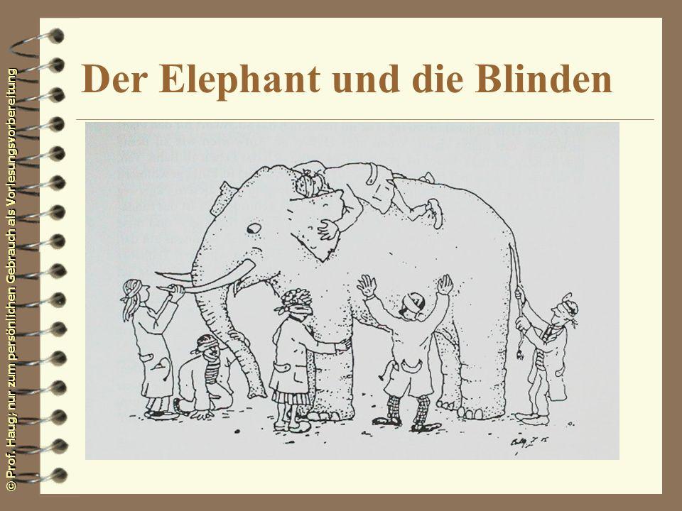 Der Elephant und die Blinden