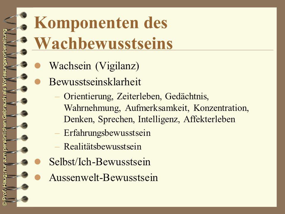 Komponenten des Wachbewusstseins