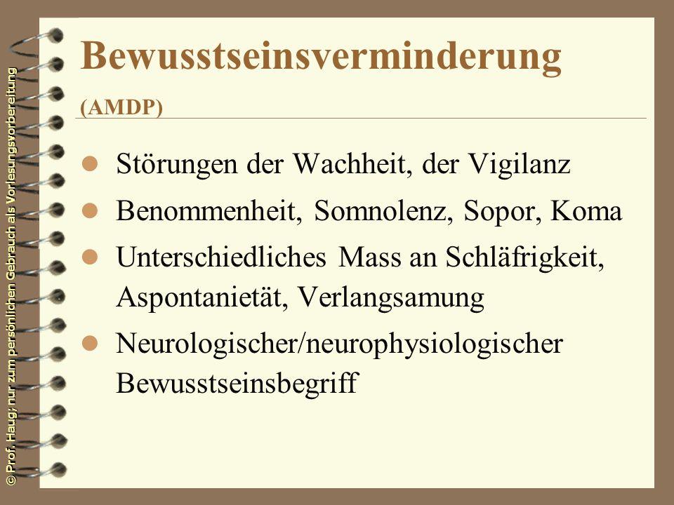 Bewusstseinsverminderung (AMDP)