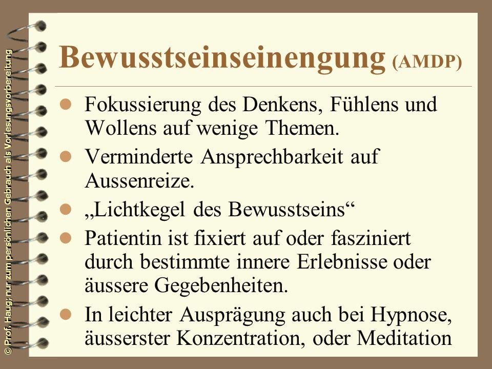 Bewusstseinseinengung (AMDP)