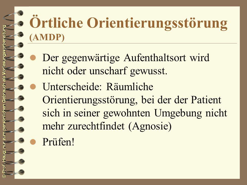 Örtliche Orientierungsstörung (AMDP)