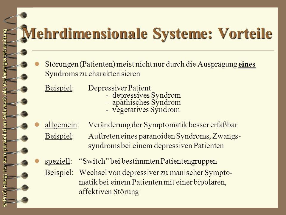 Mehrdimensionale Systeme: Vorteile
