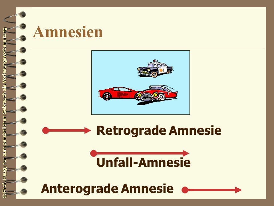 Amnesien Retrograde Amnesie Unfall-Amnesie Anterograde Amnesie