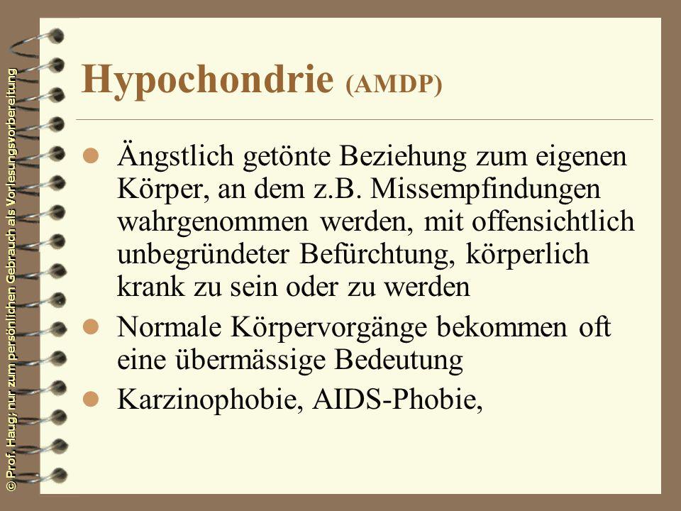 Hypochondrie (AMDP)