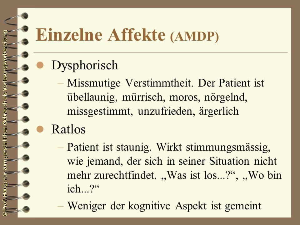 Einzelne Affekte (AMDP)