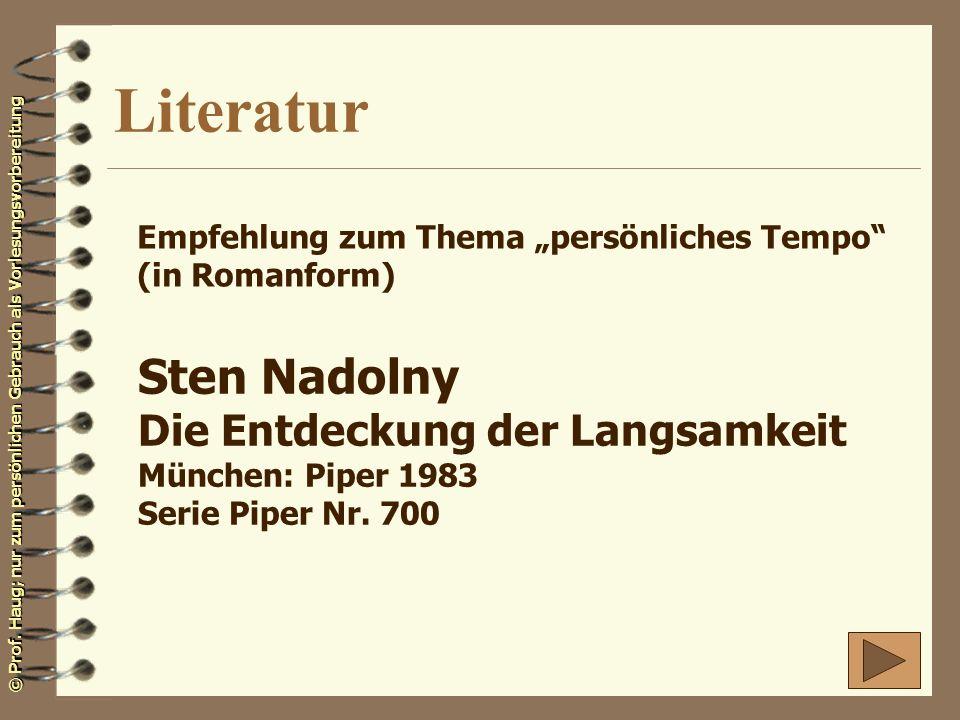 Literatur Sten Nadolny Die Entdeckung der Langsamkeit