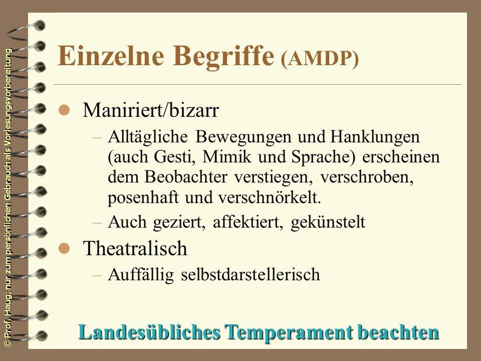 Einzelne Begriffe (AMDP)