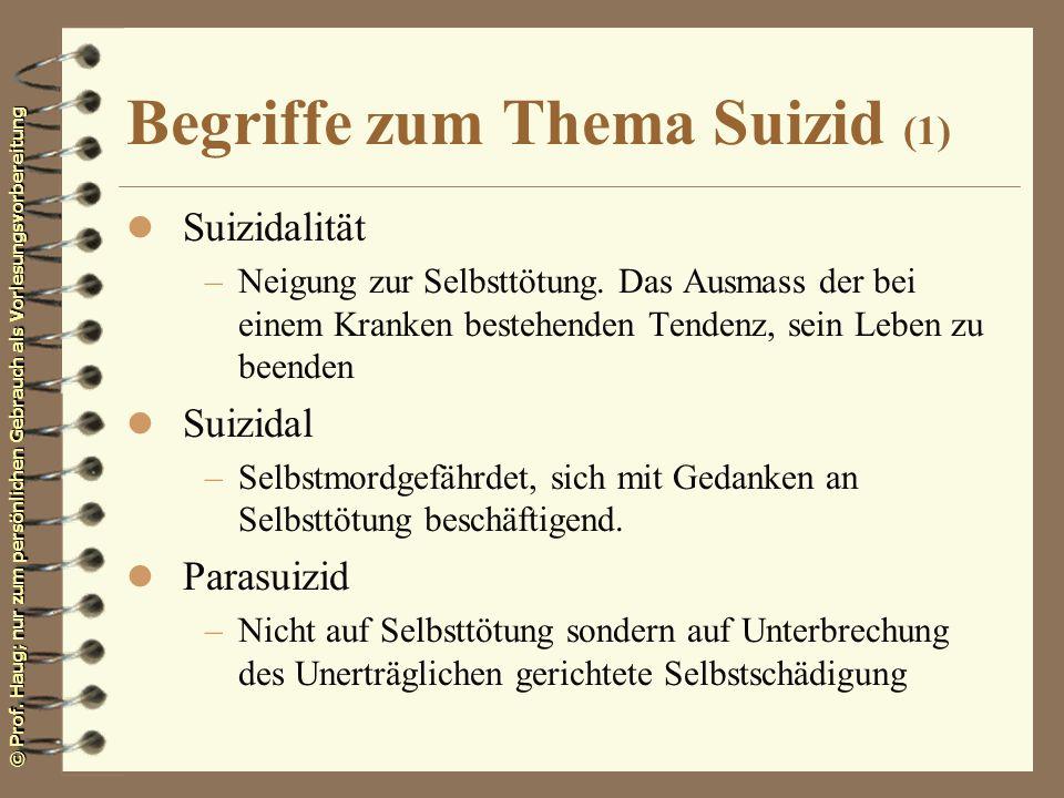 Begriffe zum Thema Suizid (1)