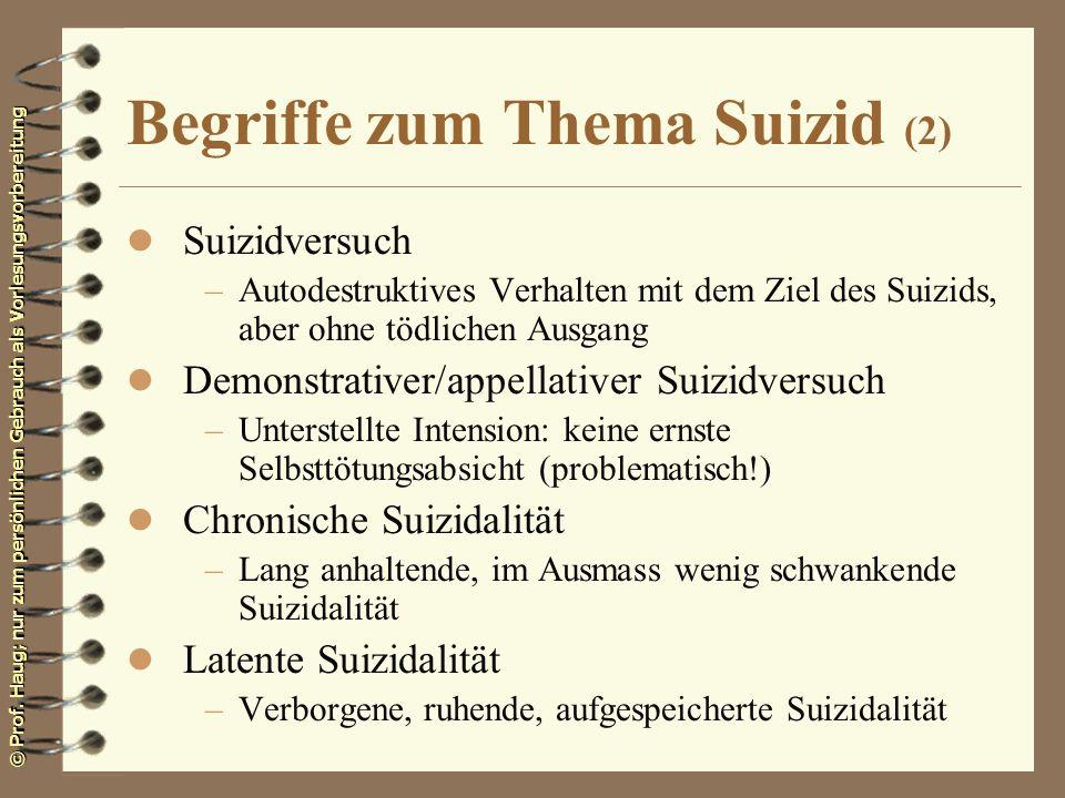 Begriffe zum Thema Suizid (2)