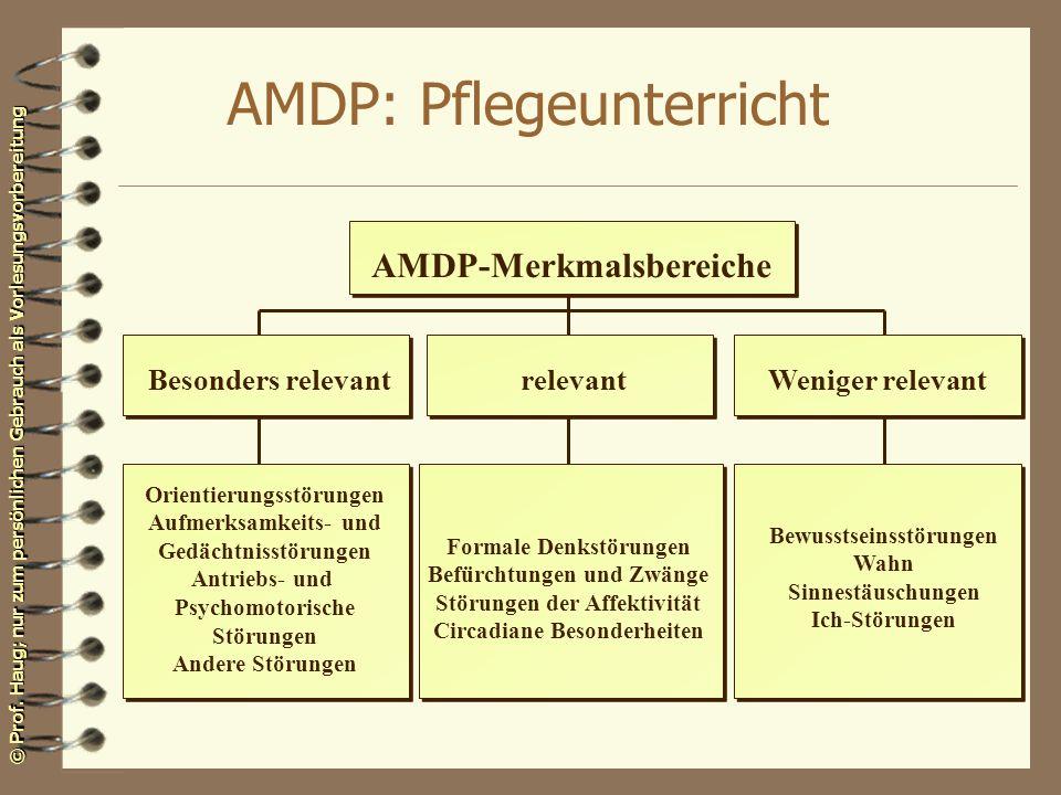 AMDP: Pflegeunterricht