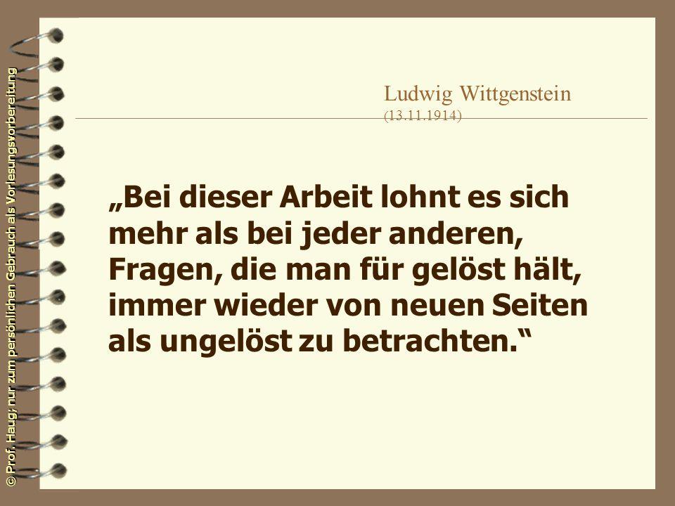 Ludwig Wittgenstein (13.11.1914)
