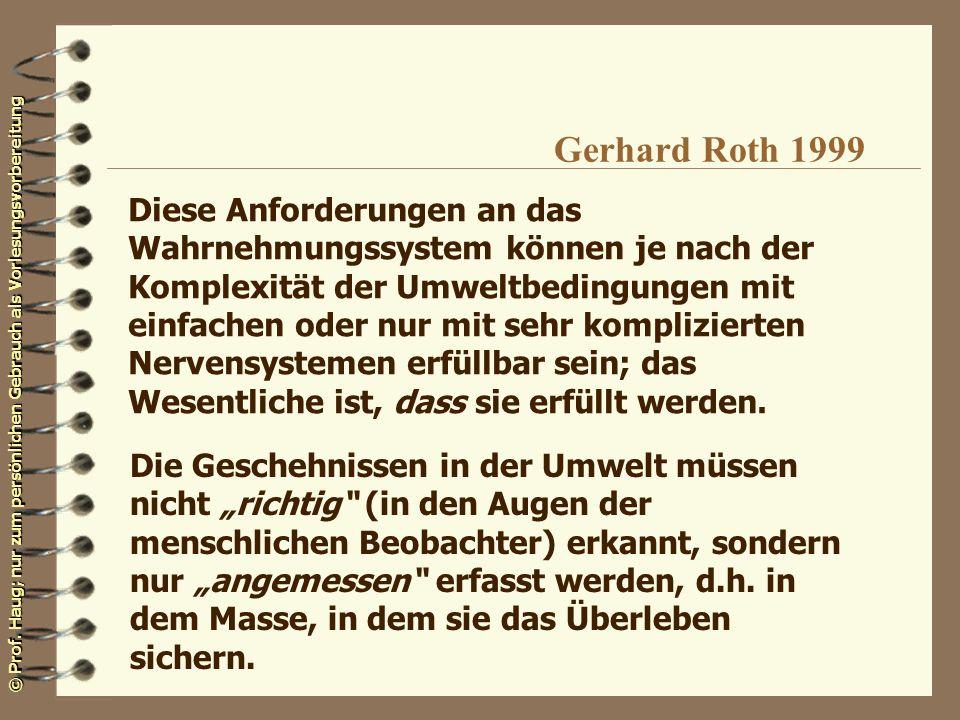 Gerhard Roth 1999