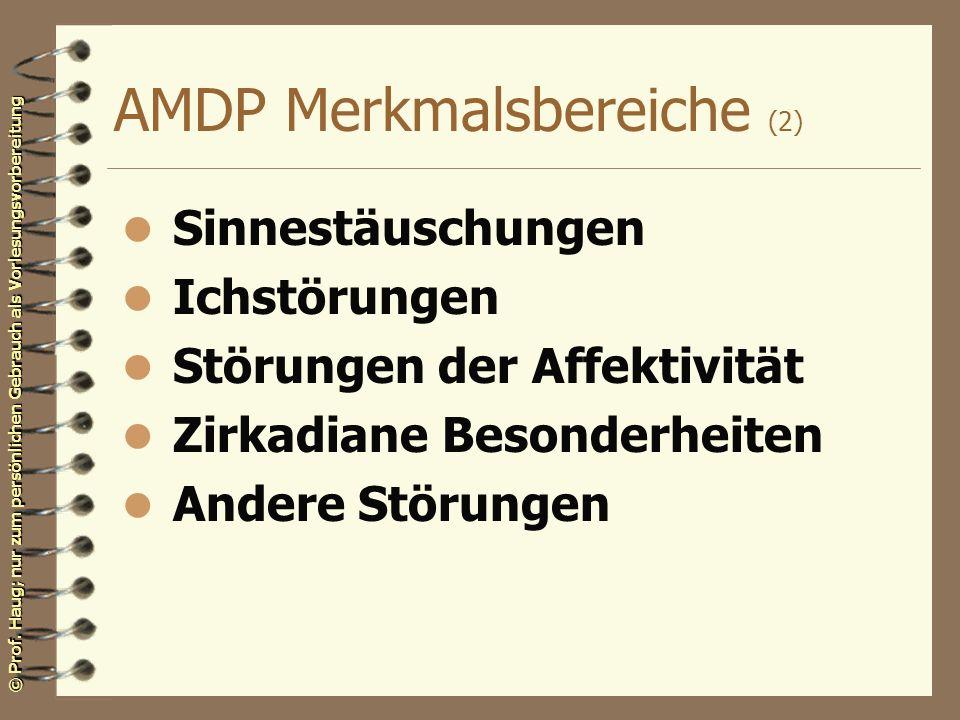 AMDP Merkmalsbereiche (2)