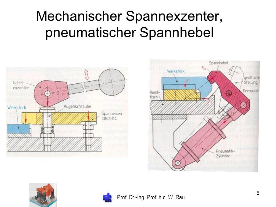 Mechanischer Spannexzenter, pneumatischer Spannhebel