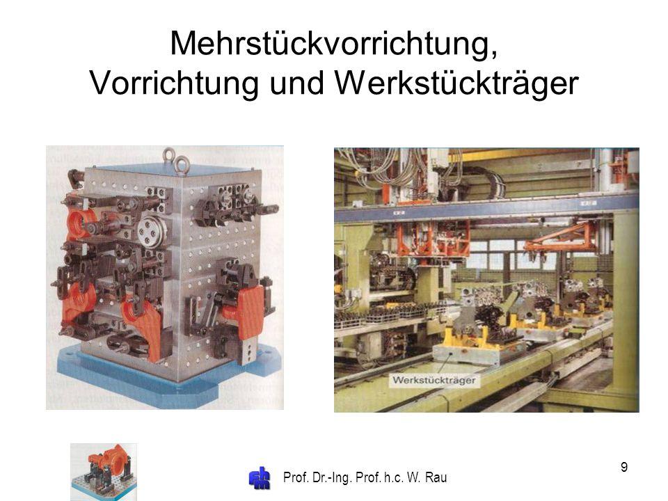 Mehrstückvorrichtung, Vorrichtung und Werkstückträger