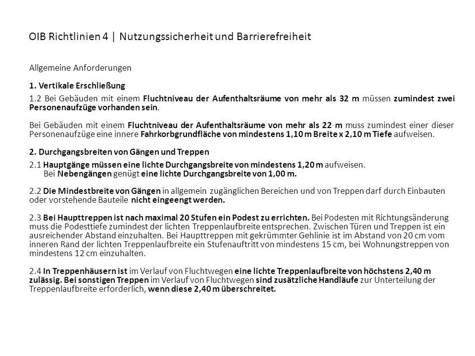 OIB Richtlinien 4 | Nutzungssicherheit und Barrierefreiheit
