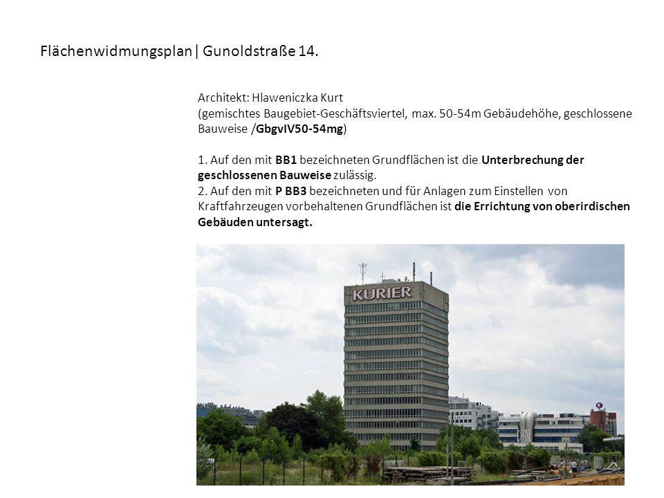 Flächenwidmungsplan| Gunoldstraße 14.
