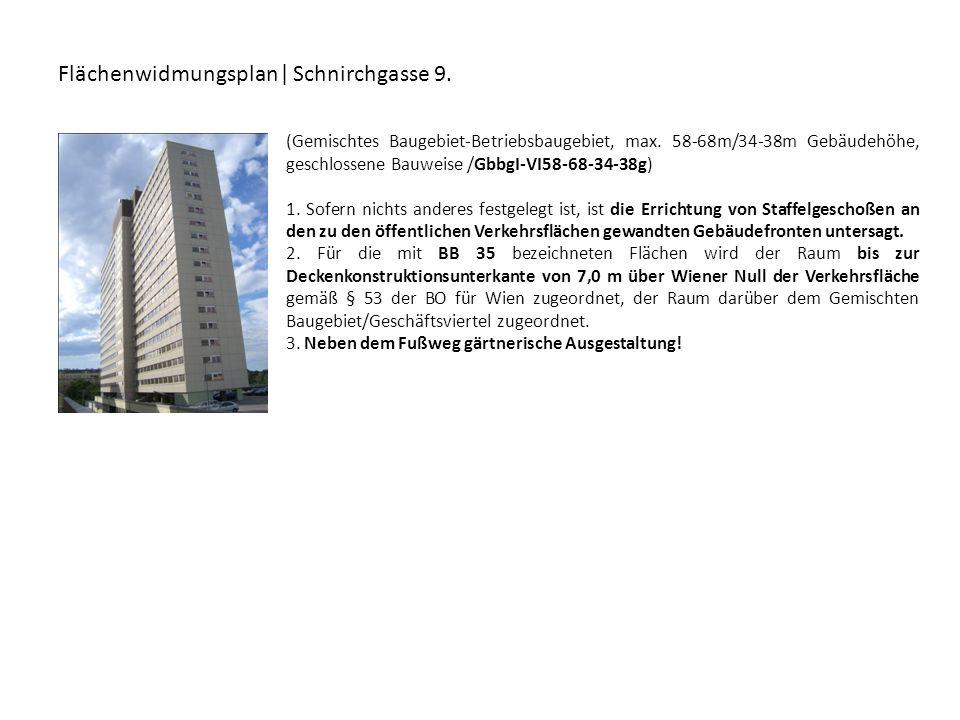 Flächenwidmungsplan| Schnirchgasse 9.