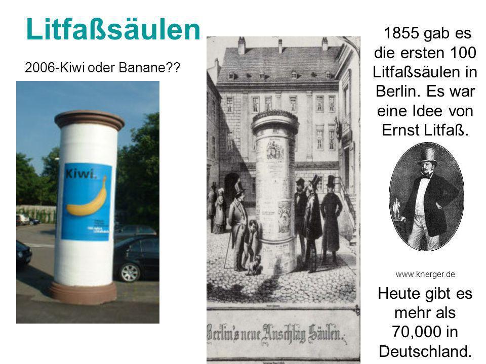 Heute gibt es mehr als 70,000 in Deutschland.