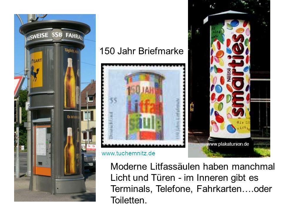 150 Jahr Briefmarke www.plakatunion.de. www.tuchemnitz.de.
